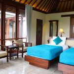 Two Bedroom Pool Villa interior with twin beds