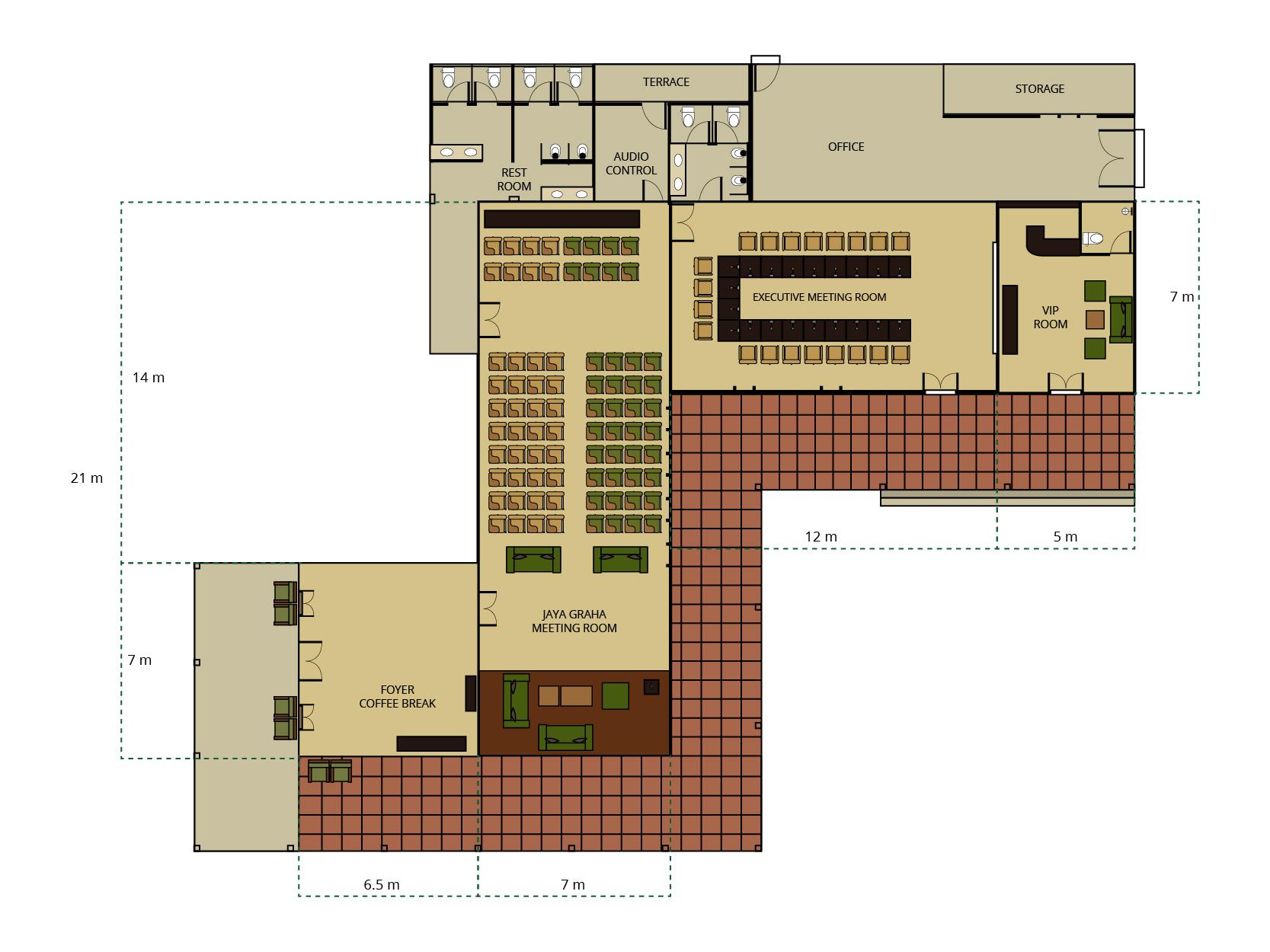 Floor plan of Bagus Agro Pelaga's meeting rooms