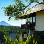 Exterior view of One Bedroom Pool Villa with a mountain in the background