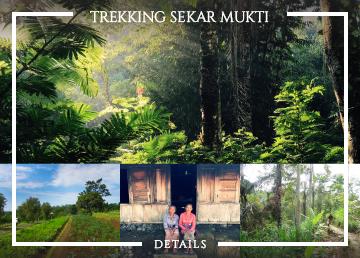 Trekking in Sekar Mukti village
