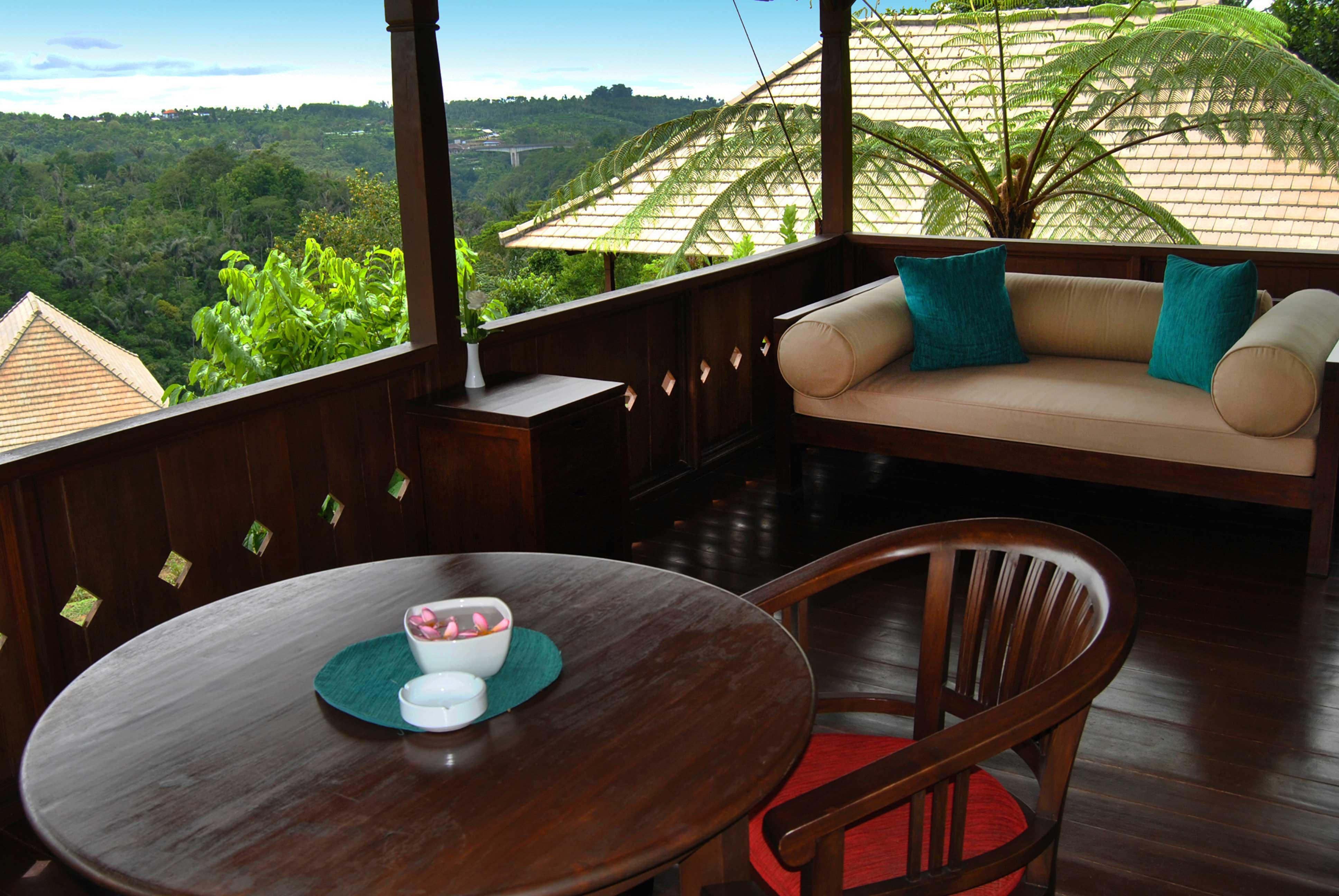 Luxury Farm Villa's balcony and seatings